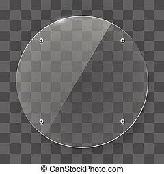 forma, vetro, circle., struttura, trasparente, vuoto