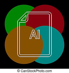 formaat, ai, -, vector, bestand, downloaden, document, pictogram