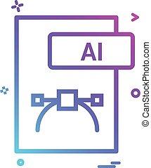 formaat, ai, vector, ontwerp, bestand, pictogram