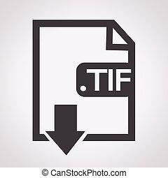 Formaat, beeld, bestand,  tif,  type, pictogram