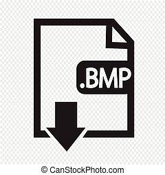 Formaat, beeld,  bmp, bestand,  type, pictogram