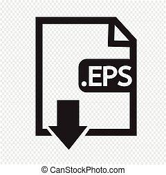 Formaat, beeld,  EPS, bestand,  type, pictogram