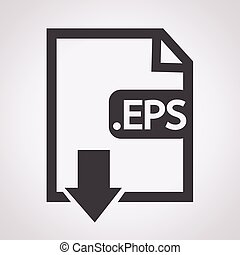 formaat, beeld, eps, bestand, type, pictogram