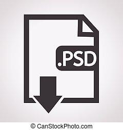 formaat, beeld, psd, bestand, type, pictogram