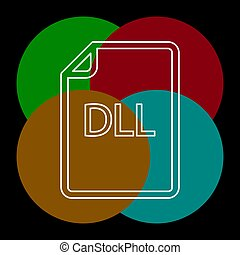 formaat, -, dll, vector, bestand, downloaden, document, pictogram