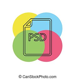 formaat, -, psd, vector, bestand, downloaden, document, pictogram