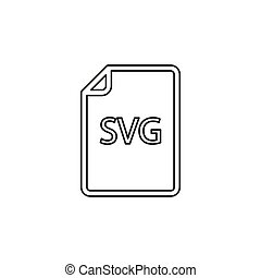formaat, svg, -, vector, bestand, downloaden, document, pictogram