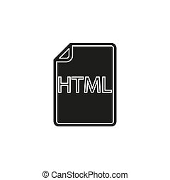 formaat, symbool, -, html, vector, bestand, downloaden, document, pictogram