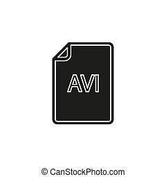 formaat, symbool, -, vector, avi, bestand, downloaden, document, pictogram