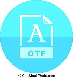 Formaat,  type,  -, bestand, cirkel,  open, pictogram