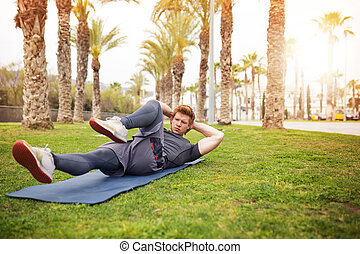 formación, músculos, abdominal