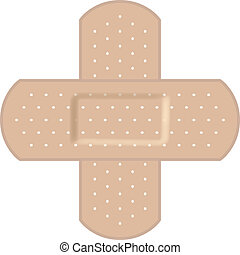 formación, vendajes adhesivos, cruz