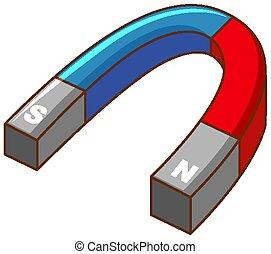 formado, u, azul, rojo, color, imán