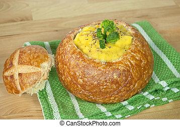 formaggio, broccolo, minestra