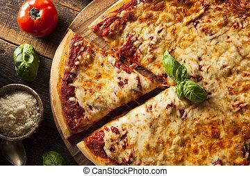 formaggio, caldo, casalingo, pizza