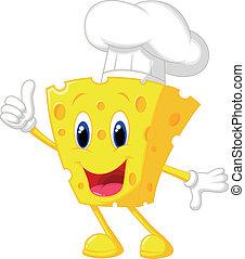 formaggio, chef, cartone animato