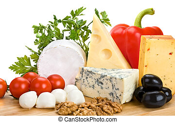 formaggio, con, verdura