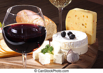 formaggio, e, vino