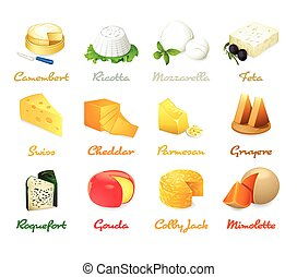 formaggio, icone