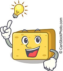 formaggio, idea, possedere, gouda, cartone animato, mascotte