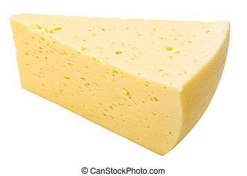 formaggio, sfondo bianco