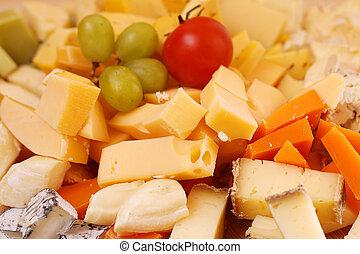 formaggio, taglio, fondo