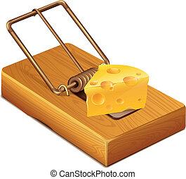 formaggio, trappola topi