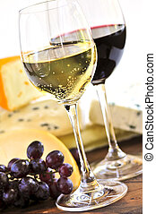 formaggio, vino