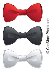 Formal bow ties - A selection of red, black and white formal...