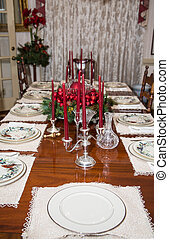 Formal Christmas Table with Candleabra