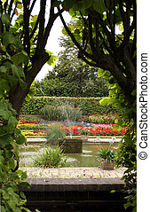 Formal English Garden - The formal gardens at Kensington...
