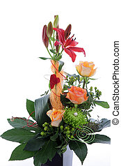 Formal floral wedding arrangement