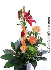 Formal floral wedding arrangement