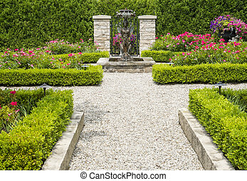 Formal Garden - A small and cozy formal garden.