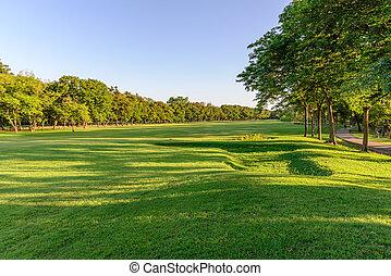 Formal garden landscape.