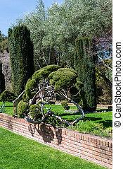 Formal Garden in California - perspective