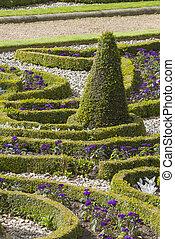 Formal garden shot in yorkshire England Europe