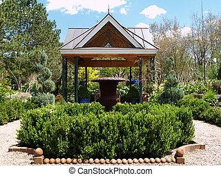 formal garden - garden structure