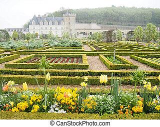 Formal Gardens at Villandry Chateau France