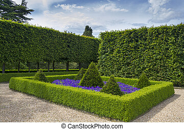 Beautiful geometrical design Formal garden