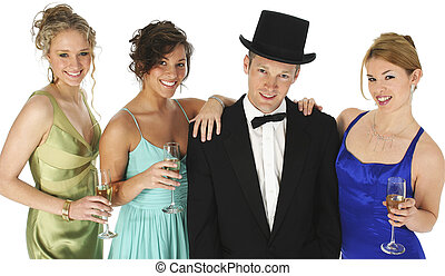 Formal Group - Groupl of friends dressed in formals. ...