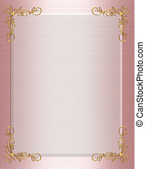 Formal Invitation border pink - Illustration composition for...