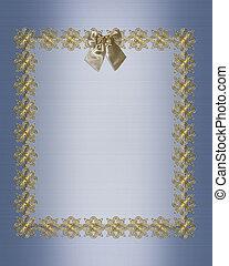 Formal invitation template blue satin