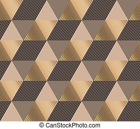 Formal polygon striped seamless pattern vector illustration. Concept geometric tile background for luxury man surface print and web design, background, fabric.