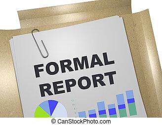 formal, relatório, conceito