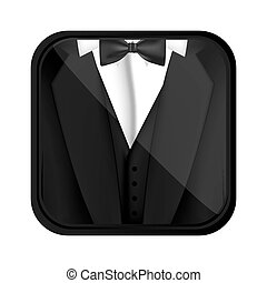 formal suit cloth icon