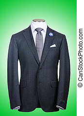 Formal suit in fashion concept