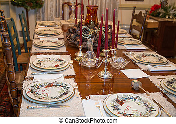 Formal Table at Thanksgiving