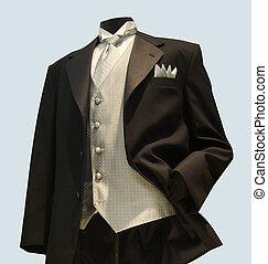 formal wear - Formal wear apearal,grey silver vest with...