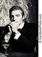 formal wear - Portrait of a handsome groom on his wedding...